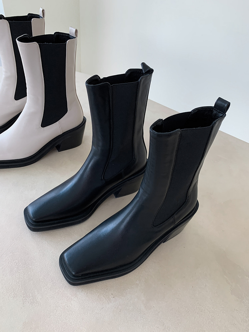 Chunky-shoe Middle Chelsea Boots-sh