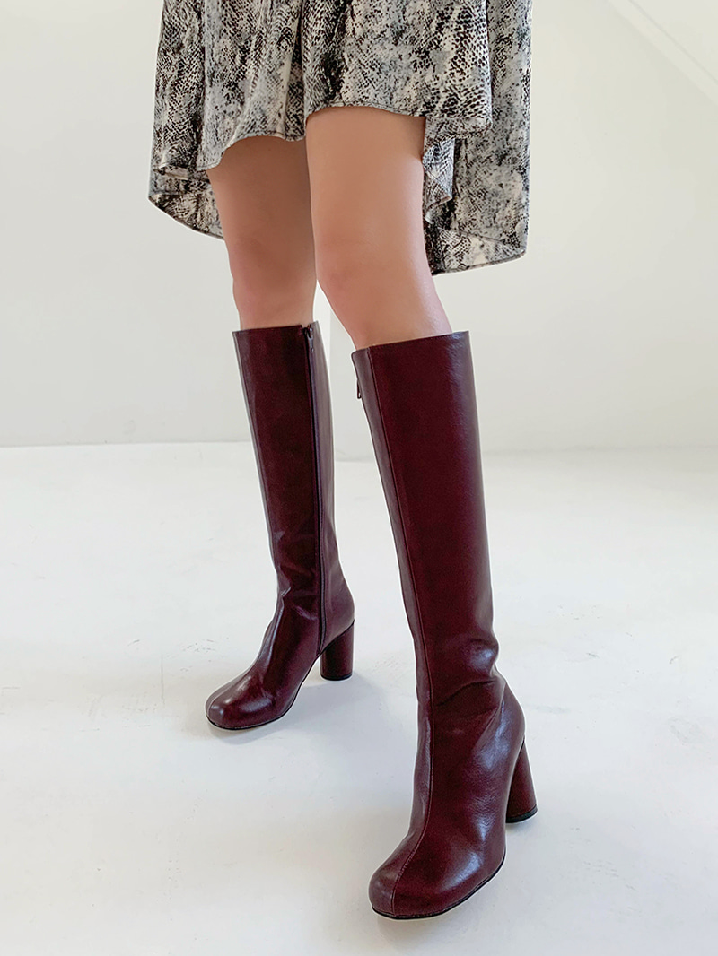 Round nose high boots-sh (white 235,245, wine 240 same day delivery)
