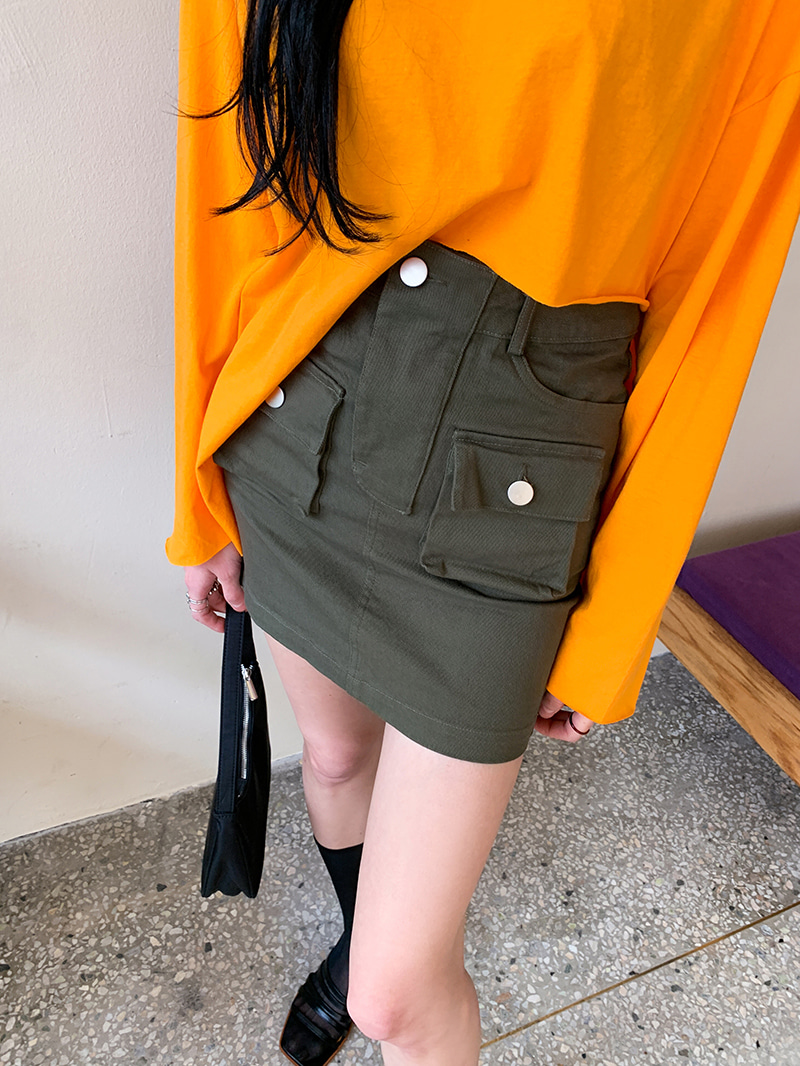Biscuit pocket mini skirt-sk