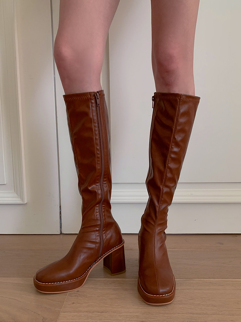 Collins Span Long Boots-sh (Brown 235,250 Same Day Delivery)