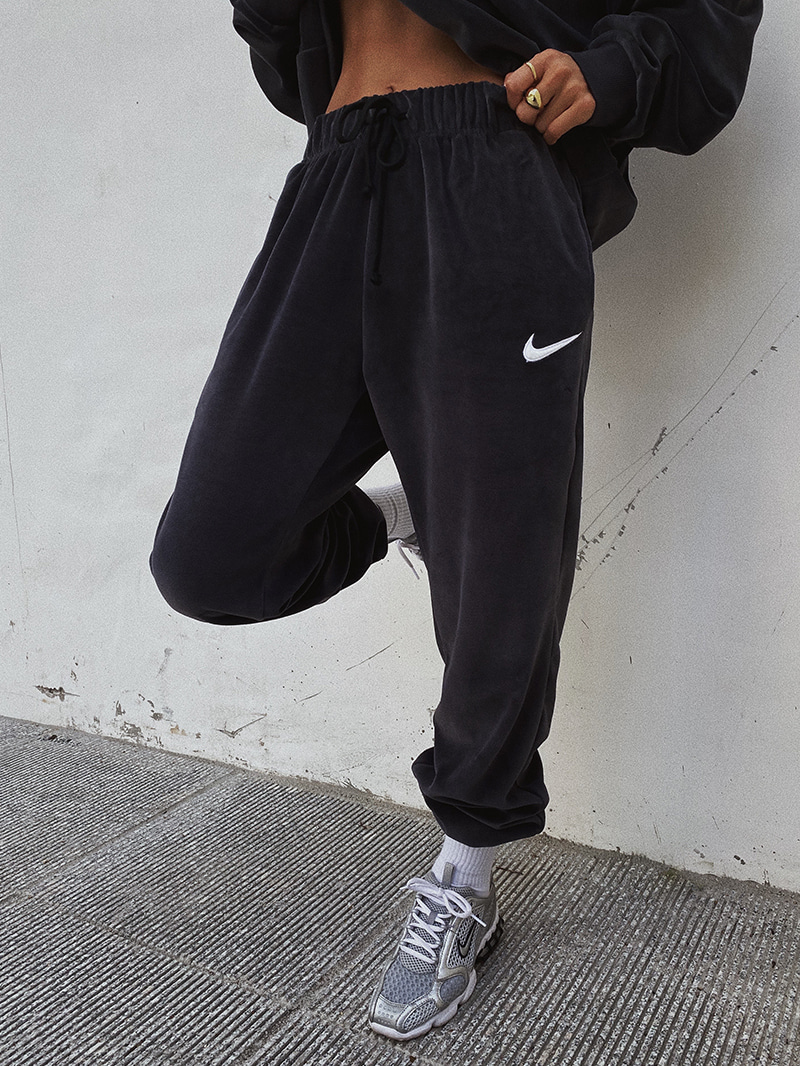 Velvet Logo Jogger Pants-pt (UNISEX) (Navy L same day delivery)